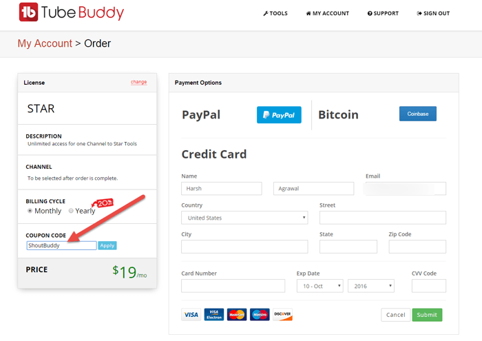 Tubebuddy discount coupon